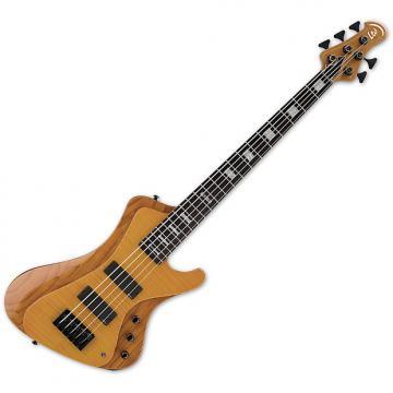 Custom ESP LTD Stream-1005 Flamed Maple 5 String Electric Bass Honey Natural