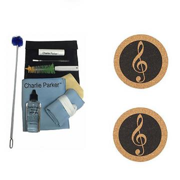 Custom Charlie Parker Paramount Series Alto Saxophone Care & Cleaning Kit w/Music Coaster 2 Pk