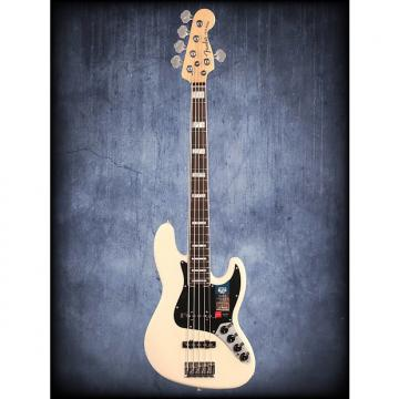 Custom Fender Amer Elite Jazz Bass V RW Olympic White WC