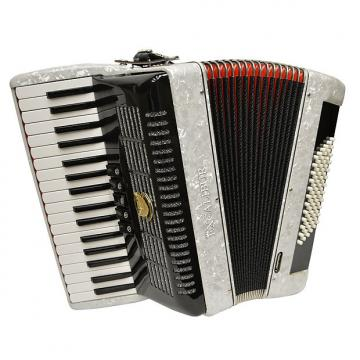 Custom Excalibur German Weltbesten UltraLite 72 Bass Piano Accordion - White
