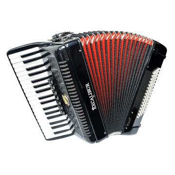 Custom Excalibur German Weltbesten UltraLite 80 Bass Piano Accordion - Black
