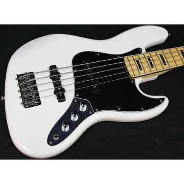 Custom Squier Vintage Modified Jazz Bass V 5-String, Olympic White, Maple FB, NEW! #486