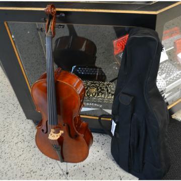 Custom Vienna Strings Hamburg Cello 1/4 Outfit Shaded Walnut