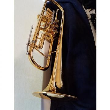 Custom Schagerl Bb Rotary Trumpet, Gold-Plated, RARE