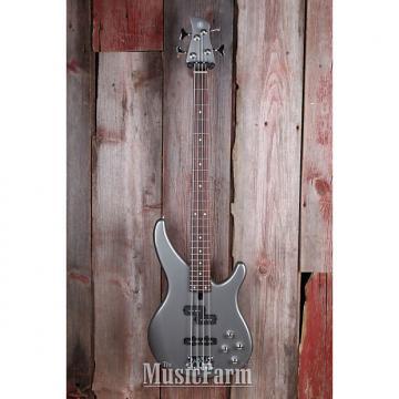 Custom Yamaha TRBX204 GRM 4 String Bass Electric Guitar w Active Preamp Gray Metallic