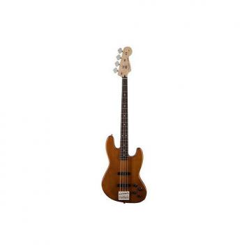 Custom Fender Deluxe Active Jazz Bass Okoume Natural Electric Bass Guitar Ex Display Natural