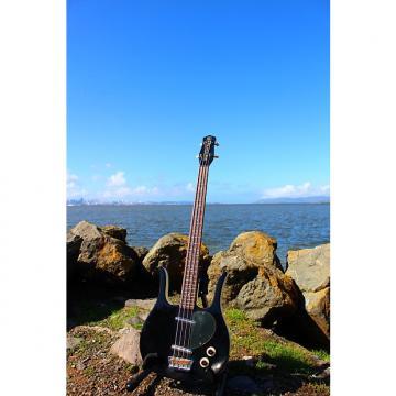 Custom Danelectro   Longhorn Bass 90s Reissue Korean Short Scale Guitar 1995 Ebony Black