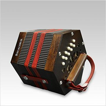 Custom Excalibur Vivo Bellezza V-1W Italian Concertina