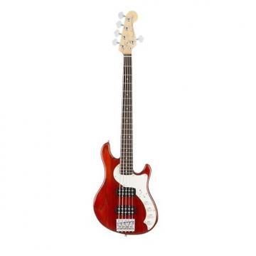 Custom Fender American Elite Dimension Bass Guitar V HH Cayenne Burst Ex Display Cayenne Burst