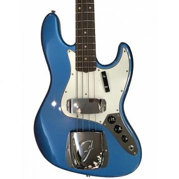 Custom Fender American Vintage 64 Jazz Electric Bass Lake Placid Blue Ex Display Lake Placid Blue