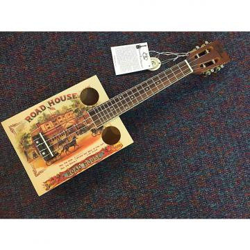 Custom Eddy Finn-Cigar Box Concert Size Ukulele-Road House-EF-CGBX-1-Beautiful Tone!