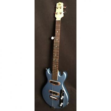 Custom HH Mini-Electric-Banjo, Double-Cutaway, 2017, Pelham Blue, Made in U.S.A., Nice Gig Bag Included!