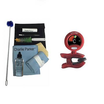 Custom Charlie Parker Paramount Series Alto Sax Care & Cleaning Kit w/ Snark SN2 Tuner/Metronome