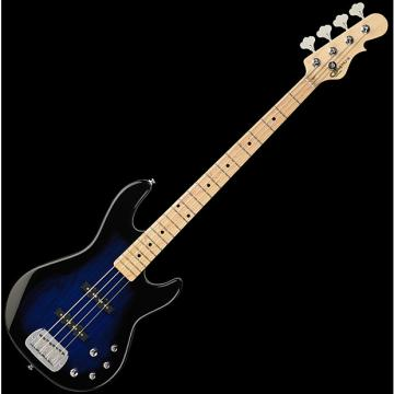 Custom G&L Tribute MJ-4 Electric Bass in Blue Burst Finish