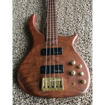 Custom US Masters 4 String Bass Guitar Natural Flamed Maple Neck Pau Ferro Board & Other Exotic Woods OHSC