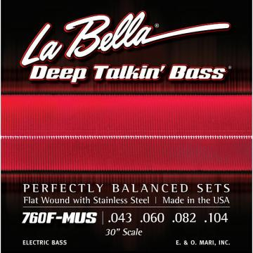 Custom LaBella 760FS-MUS Stainless Steel Flat Wound Bass Strings, Custom