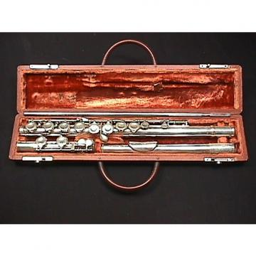 Custom Vintage Alexandre Paris Silver Platted Flute in it's Original Case & Ready to Play