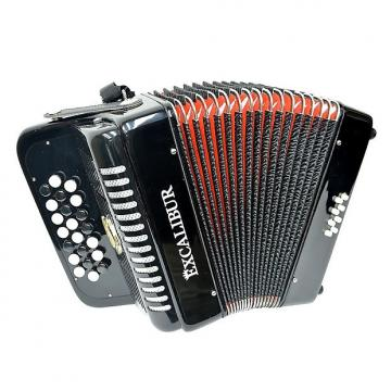 Custom Excalibur Chromatic Button Accordion 12 Bass 2016 Black