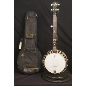 Custom Deering Boston 5 string flathead banjo all original Made in USA with a thick gig bag Banjocompass