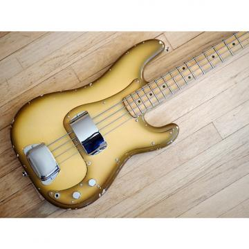 Custom 1977 Fender Precision Bass Antiqua Vintage Electric Bass Guitar Maple Fretboard w/hc