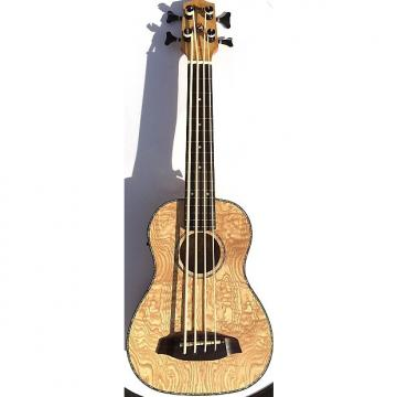 Custom Grape UBS-01 Electric Acoustic Fretless Ukulele Bass w/ bag- Willow
