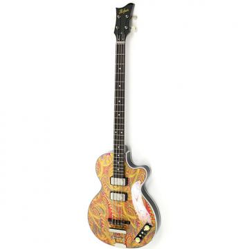 Custom Hofner Gold Label 500/2 Limited Edition Club Bass Paisley