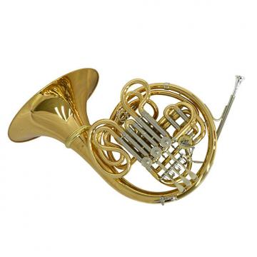 Custom Schiller American Elite VI (A) French Horn w/ Detachable Bell - Yellow Brass and Nickel