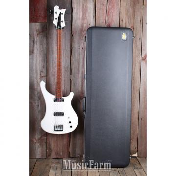 Custom Rickenbacker 4004L Laredo RARE SnowGlo 4 String Electric Bass Guitar with Case