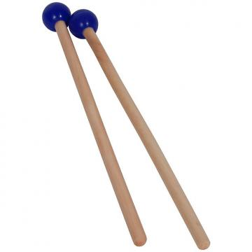 "Custom Idiopan 7"" Mallets .75"" Ball End Pair Blue"