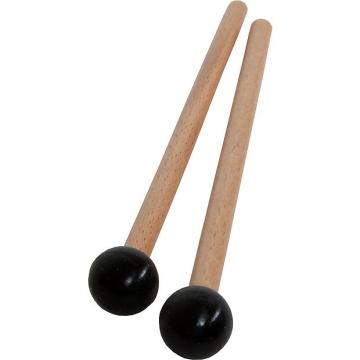 "Custom Idiopan 7"" Mallets .75"" Ball End Pair Black"