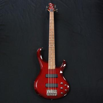 Custom Ibanez BTB405QM Transparent Red