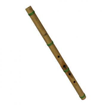 """Custom DOBANI 21"""" Shakuhachi Flute Bamboo Cane 5 Hole Key D"""