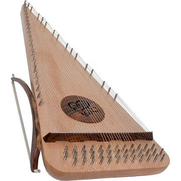 "Custom Roosebeck 29.5"" Psaltery Baritone Rounded Left Handed Bow and Tuning Tool"
