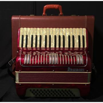 Custom Rondini Piano Accordion w/ Case and Straps