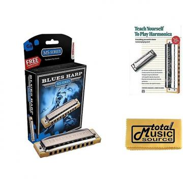 Custom HOHNER Blues Harp MS Harmonica Key G#, Made in Germany, Includes Case & Book, 532BL-G# BK