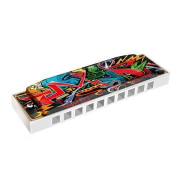 Custom New Hohner White Cobra Tagged Harmonica Key Of C