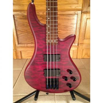 Custom Schecter  Stiletto Custom 4 Bass Satin Vampire Red