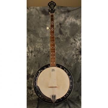Custom Iida 5 String Resonator Banjo w Deluxe Hardshell Case Aida Hearts and Flowers Inlay
