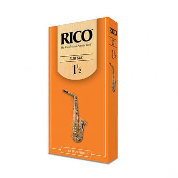 Custom rico alto sax reeds box of 25, strength 1.5