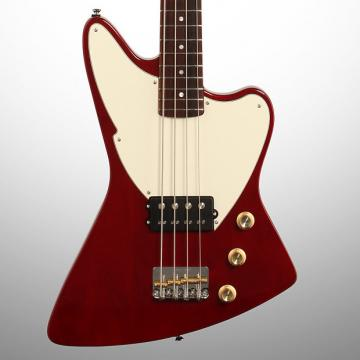 Custom Fret-King Esprit I Electric Bass (with Gig Bag), Transparent Red