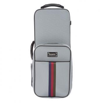 Custom SAINT GERMAIN Trekking Alto Sax case - Grey
