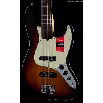 Custom Fender American Pro Professional Jazz Bass Fretless 3-Tone Sunburst Rosewood (707)