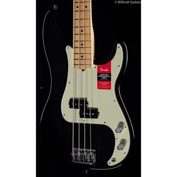 Custom Fender American Pro Professional Precision Bass Black Maple (393)