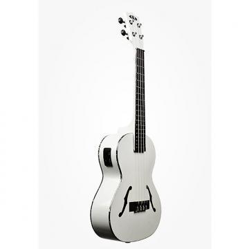 Custom Kala KA-JTE/MTW Archtop Tenor Ukulele, Satin Metallic White