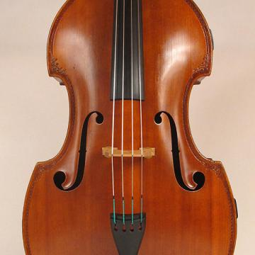 Custom Morelli 3/4 size string bass circa 1900 brown