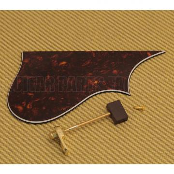 Custom Fender Tortoise Print Pickguard for FM-63S Series Mandolin & Gold Bracket 005-5061-000 Tortoise