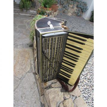 Custom Loveri Accordion 120 Bass Vintage  50's Black
