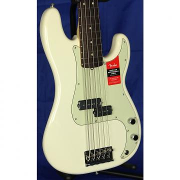 Custom Fender American Professional Precision P 5 String Electric Bass Guitar 2017 Olympic White