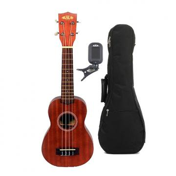 Custom Kala KA-15S Mahogany Soprano Ukulele - With UB-S Bag and Tuner