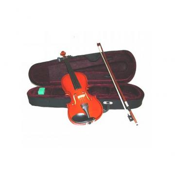 Custom Merano MV100 3/4 Size Student Violin with Case and Bow+Extra Set of Strings, Extra Bridge, Rosin, Pi